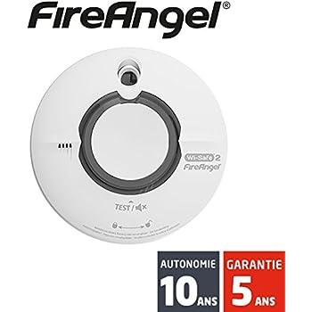 Fireangel - Détecteur de fumée Fireangel interconnectable sans-fil Wi-Safe 2 WST-630 - Autonomie 10 ans - Garantie 5 ans