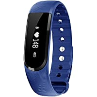 morefit H7 impermeabile Heart Rate Monitor Guarda, HR Wireless Activity + Sleep Wristband, colore: blu