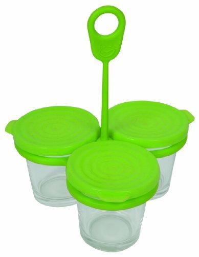 Tefal XA500039 Yogurtera con tapa, vidrio, 3 unidades