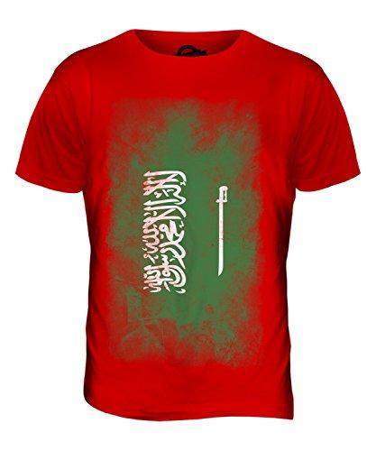 CandyMix Saudi-Arabien Verblichen Flagge Herren T Shirt Rot