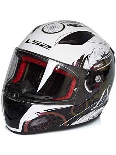 LS2 FF353 RAPID BOHO - Casco da moto, taglia S, colore: Bianco/Nero/Ros