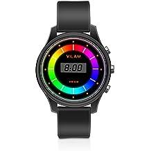 Luces intermitentes reloj impermeable para niños - XREXS 7 luces de color Niñas/chicos Reloj Impermeable De Digitales Deportes reloj de pulsera para los niños, 50 M Impermeable (Negro)