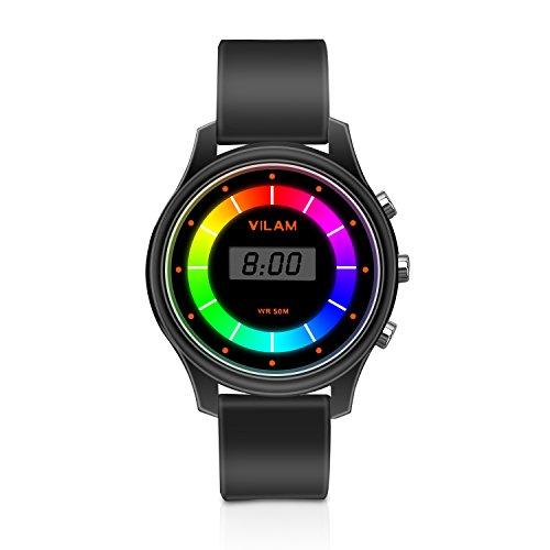 Rainbow Farbe Lichter Kinder Armbanduhr–XREXS 7 Farbe Blinkendes 30M Wasserdicht Kinder Elektronische Armbanduhr,Komfortable Armband Digitaluhren Kinder Armbanduhr für Jungen...