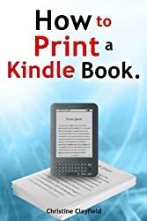 How to print a kindle book