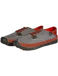 Keen - Zapatos de cordones de Lona para hombre gris gris