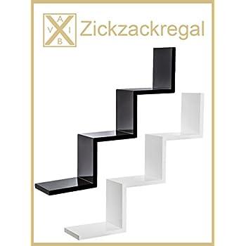 """Zickzack """"TONI"""" Hochglanz Wandregal Bücherregal Lounge"""