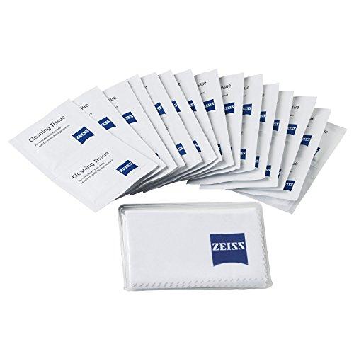 ZEISS Reinigungstücher - Reinigungstücher Set für Objektive, Filter, Brillengläser, Ferngläser und LCD-Displays