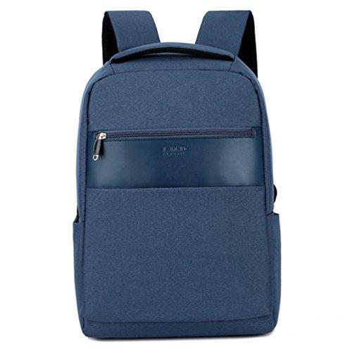 MTTLS Laptop Rucksack 15,6 Zoll Schule Bookbag Slim Business-Rucksack Für Notebook-Computer HP Lenovo Samsung Sony Und Arbeit,Blue 190 Ipod