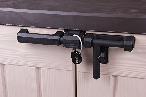 Keter Store It Out Max Gartenbox Mülltonnenbox Gerätebox Schuppen für 2 x 240 Liter Mülltonnen (Beige Braun) - 7
