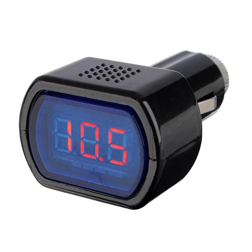 12-24V LED Zigarettenanzünder KFZ Batterie Tester Spannungsanzeige Voltmeter (Batterie Voltmeter)