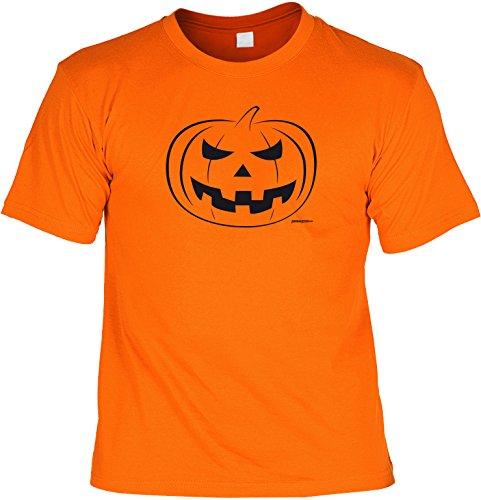 Halloween Grusel T-Shirt - Kürbis Gesicht! Originelles Halloween Kostüm Orange