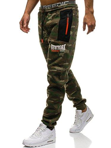 BOLF Herren Sporthose Sweatpants CRWS DNM 3781B Mehrfarbig XL [6F6]
