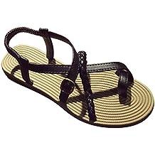 Sandalias de las mujeres,Internet Bohemia del vendaje de la espina de pescado de playa zapatos planos
