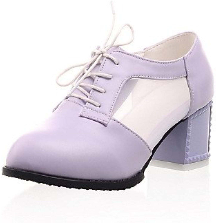 NJX/ hug Zapatos de mujer - Tacón Robusto - Tacones / Puntiagudos - Tacones - Exterior / Vestido / Casual - Semicuero...