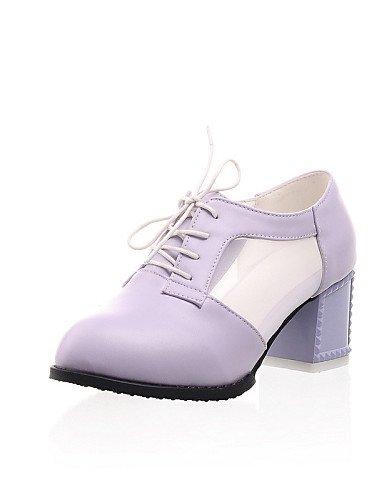 ZQ hug Scarpe Donna - Scarpe col tacco - Tempo libero / Formale / Casual - Tacchi / A punta - Quadrato - Finta pelle - Nero / Viola / Bianco , purple-us10.5 / eu42 / uk8.5 / cn43 , purple-us10.5 / eu4 black-us7.5 / eu38 / uk5.5 / cn38