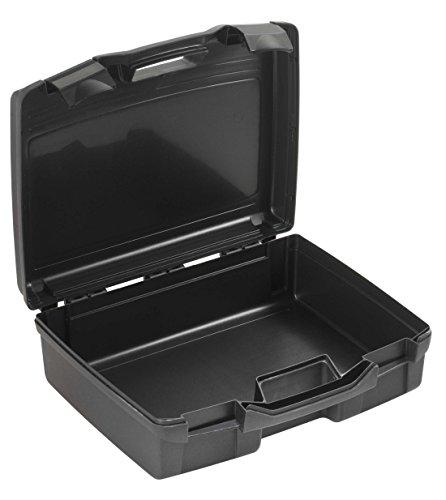 Kunststoffkoffer leer in schwarz, Außenmaß: 370x307x121 mm
