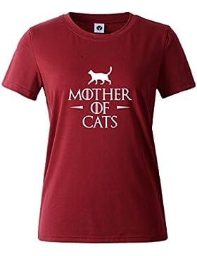 [Patrocinado]HappyGo Moda Camisas Mujer Verano Carta Impresión Manga Corta Cuello Redondo Camisetas Algodón T Shirt Blusas...