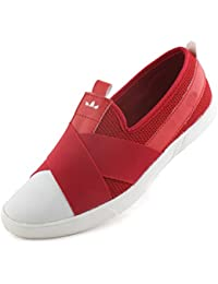Albertiano Cross Style Men Loafer (red Color)