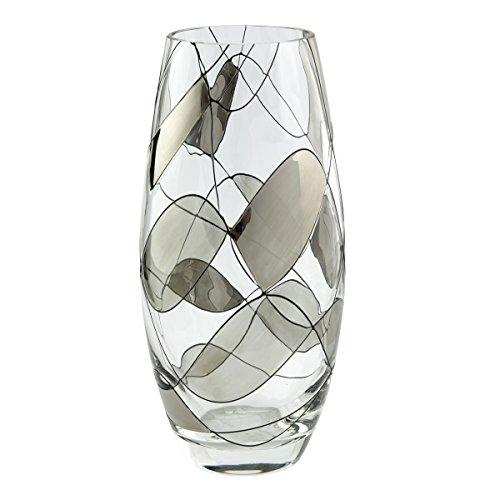Jarrón cristal clásico mosaico plateado calidad