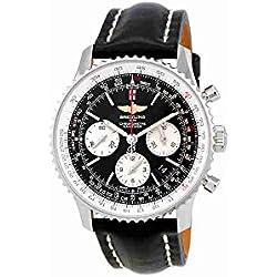 Breitling navitimer Cronógrafo Automático Negro Dial Mens Reloj ab012012-bb01bk