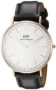 Daniel Wellington - Reloj analógico para caballero de cuero blanco de Daniel Wellington
