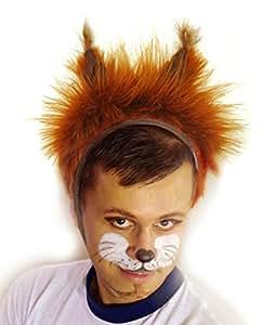 Bonnet de Ecureuil Déguisement de Carnaval Chapeau avec Oreilles Costume des Animaux pour les Enfants plus de 9 ans et pour les Adultes, Hommes, Femmes, Fête Soirée Carnaval Taille L/XL