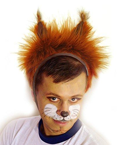 Faschingskostüm Eichhörnchen Mütze mit Ohren Kappe Hut Eichhörnchen Karneval Kostüme für Kinder älter als 9 Jahre, Herren Männer Frauen Festtage Größe L / XL Geschenk (Kind Eichhörnchen Kostüm)