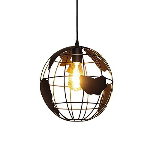 Schmiedeeisen Kronleuchter Kreative Kronleuchter Europäischen Modernen Minimalistischen Schlafzimmer Lampe Restaurant Globe Einkopf- Kronleuchter E27 110-240V