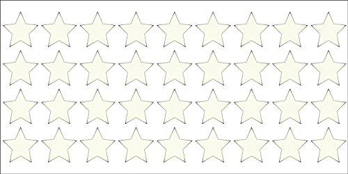 """Reflektierendes Aufkleberset """"Sterne, 36 Stück, weiß/silber"""", reflex_006_weiß/silber, Ø 2 cm pro Aufkleber, Reflexion, Leuchtaufkleber, Aufkleber für Bike, Helm, Auto, Sicherheit für Kinder"""