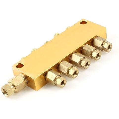 Water & Wood Pneumatic Throttling Adjustable 5 Position Oil Distributor Valve Manifold (5 Valve Manifold)