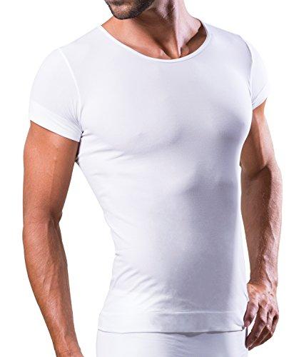 Dr.Walt - Herren Unterhemd Kurzarm mit Sport technischen Garnen für die täglichen Gebrauch, thermische, Ultraleicht und bakteriostatisch, ohne Nähte. -