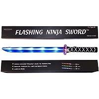 Spada giocattolo ninja luminosa (LED) Deluxe con effetti sonori mettallici attivati al movimento - Blu