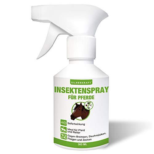 Silberkraft Insektenspray Pferde, effektiver Schutz gegen Bremsen, Stechmücken, Fliegen und Zecken, für Pferd und Reiter, Sofort- und Langzeitwirkung, 500 ml