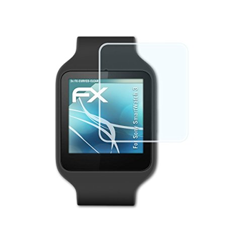 sony-smartwatch-3-pellicola-proteggi-3-x-atfolix-fx-curved-clear-flessibile-pellicola-protettiva-per