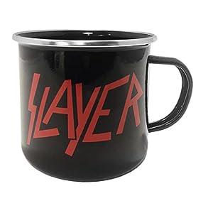 Close Up Slayer - Taza esmaltada, diseño con Logotipo