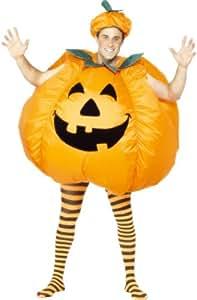 Smiffy's - Costume gonfiabile da zucca di Halloween, Unisex adulto, taglia unica