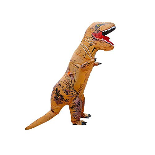 Kostüm Orange Trex Kinder - CLCYL Aufblasbares Kostüm des Dinosauriers Kinderaufblasbares Dinosaurier-Kostüm T Rex Kinder Halloween Cosplay Tyrannosaurus Rex Tyrannosaurus Elternteil-Kind-Stadiums-Ausrüstungs,Orange