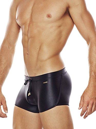 TRIBE Herren Badeshort, Swim Trunk Ibiza, schwarz (Artikel fällt klein aus) Schwarz