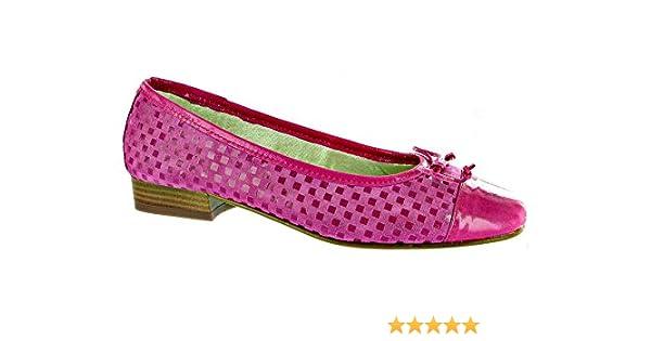 Riva Andros Patent/Suede Women's Ballerina Shoe Fuchsia - 37