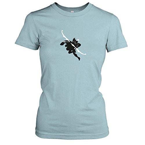 TEXLAB - Frost Archer - Damen T-Shirt, Größe XL, hellblau (Ashe League Of Legends Kostüm)