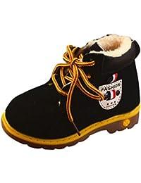 49b70e27e Botas Militares para Niños Otoño Invierno Botines Planos con Cordones  Zapatos De Primeros Pasos Fiesta Calzado
