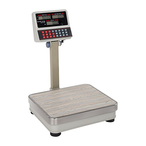 Steinberg Systems Bilancia da Banco Commerciale Elettronica Frutta Verdura Bilancia Prezzatrice SBS-PW-60/5 (60 kg / 5 g, Superficie di pesatura: 30 x 35 cm, 7 memorie)
