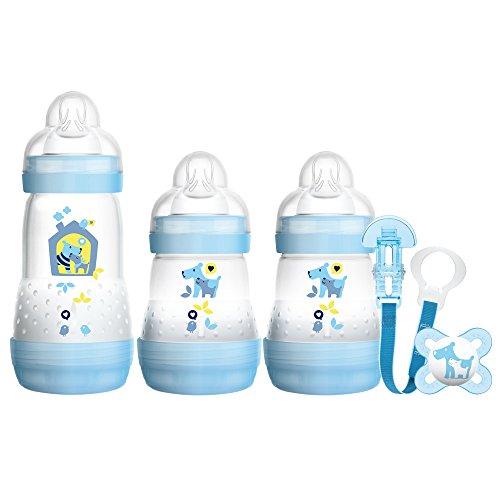 MAM - Set da regalo per neonati 'Welcome to the World', Blu (Blue), Modelli assortiti, 1 pezzo