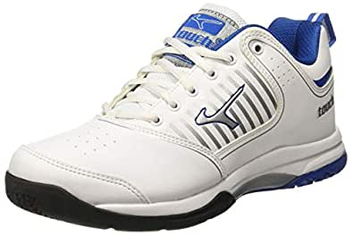 Lakhani Men's 17-769 White-Silver-R Blue Running Shoes-9 UK/India (44 EU) (Touch 17-769-Multi-Colour-9)