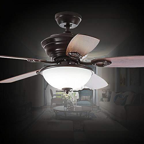 WWLONG LED-Deckenventilator Deckenventilator mit LED-Beleuchtung und Fernbedienung, Holzlüfterflügel, 42 Zoll / 48 Zoll [Energiestufe A +]-122CM -