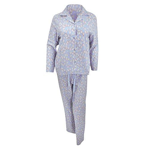 Haut à manches longues et pantalon de pyjama - Femme Bleu