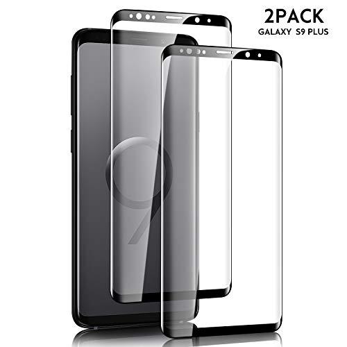 SGIN Galaxy S9 Plus Panzerglas Schutzfolie, [2 Stück] Premium Gehärtetem Glas Displayschutzfolie, Anti-Fingerabdruck, Blasenfrei, Ultra-dünner, 9H Härtegrad, für Samsung Galaxy S9 Plus - Schwarz