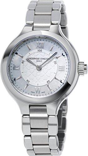FREDERIQUE CONSTANT Reloj Fecha Standard para Mujer de Cuarzo con Correa en Acero Inoxidable FC-281WH3ER6B