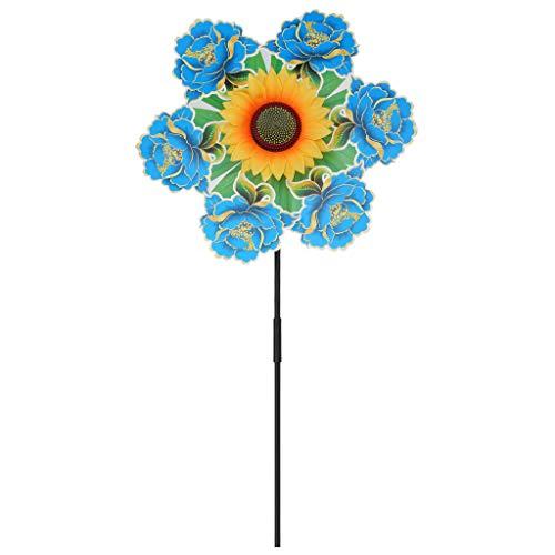 Yunso Sonnenblume Windmühle Spielzeug Blume Bunte Garten Dekoration Windrad Kinder Spielzeug Outdoor Spiele Ornamente Wind Spinner   Garten > Dekoration   Yunso