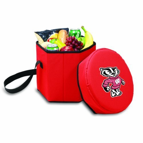 ncaa-wisconsin-badgers-bongo-insulated-collapsible-cooler-red-by-picnic-time